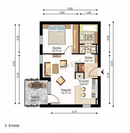 Győri lakás eladó, 42 négyzetméteres, 2 szobás
