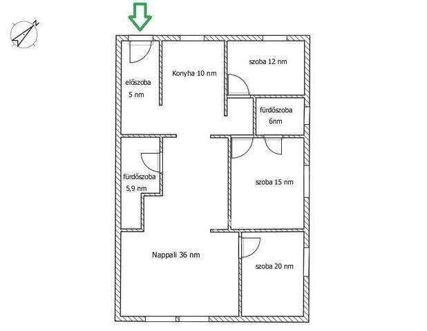 Budapest eladó lakás Alsórákoson az Erzsébet királyné útján, 103 négyzetméteres
