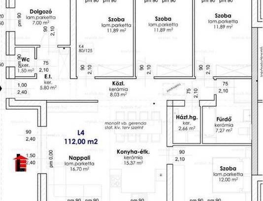 Eladó lakás Győr, 4 szobás, új építésű