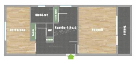 Budapest kiadó lakás, Szemlőhegy, Alsó Zöldmáli út, 60 négyzetméteres