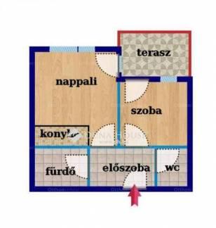 Fóti új építésű lakás eladó a Liget utcában, 42 négyzetméteres