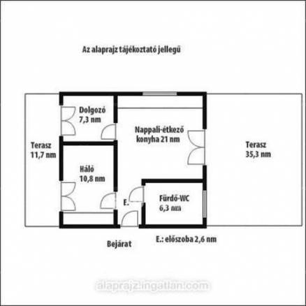 Új Építésű eladó lakás Budapest, 1+2 szobás