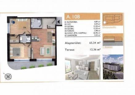 Eladó lakás Pécs, 3 szobás, új építésű