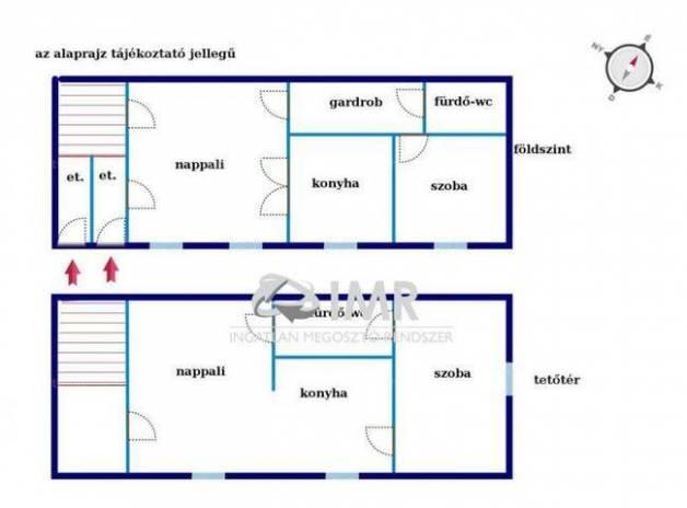 Budapesti lakás eladó, 54 négyzetméteres, 2 szobás