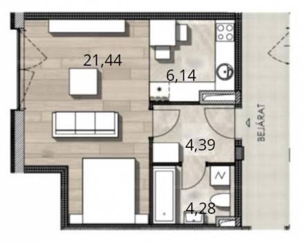 Budapesti új építésű eladó lakás, Óhegyen, 1+2 szobás