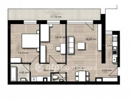 Eladó új építésű lakás Ligetteleken, X. kerület, 3 szobás