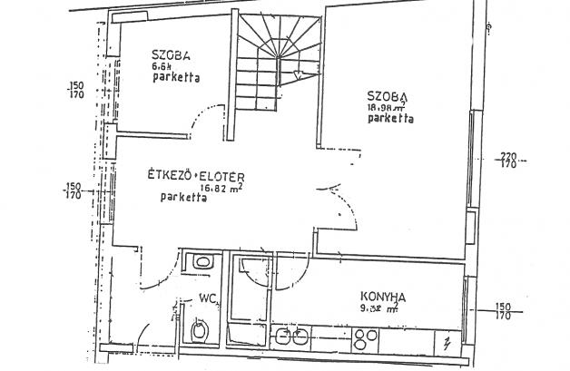 Budapesti lakás eladó, Palotanegyedben, Baross utca, 6 szobás