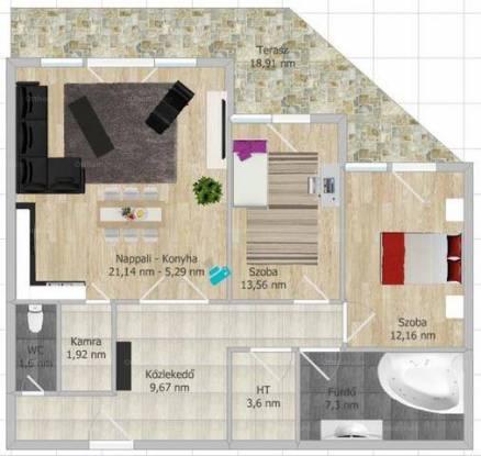 Szeged 1+2 szobás új építésű lakás eladó