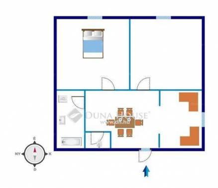 Eladó házrész Kispesten, XIX. kerület, 2 szobás