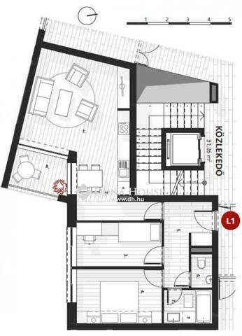Zalaegerszegi új építésű lakás eladó a Dózsa György utcában, 65 négyzetméteres