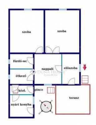 Családi ház eladó Győr, 81 négyzetméteres