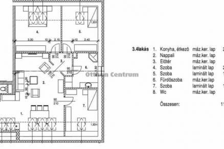 Nagycenki lakás eladó, 113 négyzetméteres, 4 szobás