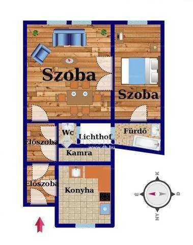 Budapest eladó lakás Kerepesdűlőn a Hungária körúton, 58 négyzetméteres