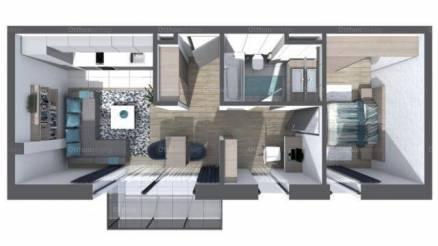 Győri új építésű lakás eladó, 61 négyzetméteres, 2 szobás