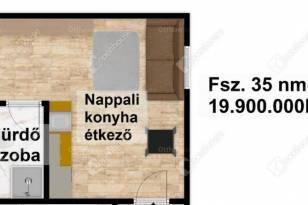 Egeri új építésű lakás eladó, 35 négyzetméteres, 1 szobás