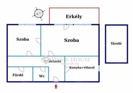 Budapesti lakás eladó, Erdősoron, Tárház utca, 2 szobás