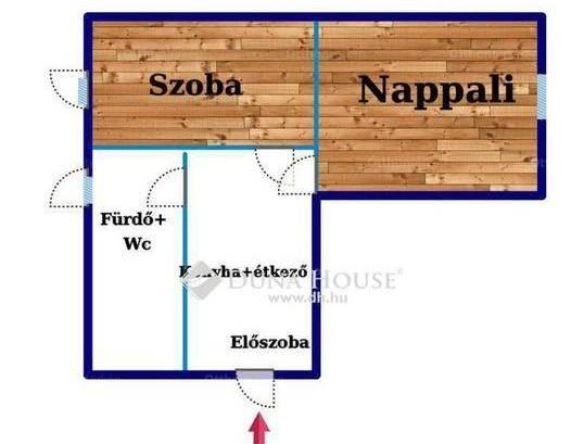 Eladó lakás Pécs a Gosztonyi Gyula utcában, 2 szobás