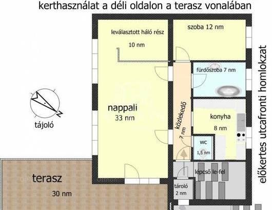 Lakás kiadó Budaörs, 90 négyzetméteres