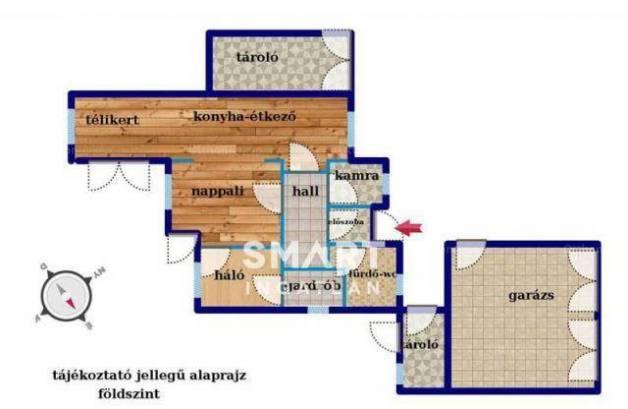 Budapest családi ház eladó, Nagytétényen, 2+3 szobás