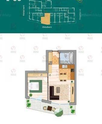 Budapesti új építésű eladó lakás, Krisztinavárosban, Hegyalja út, 2 szobás