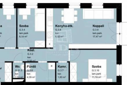 Szombathelyi új építésű lakás eladó a Kassák Lajos utcában, 68 négyzetméteres