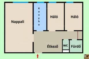 Eladó lakás, Budapest, 1+2 szobás