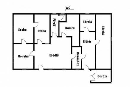 Jánoshalmai eladó családi ház, 2 szobás, 142 négyzetméteres