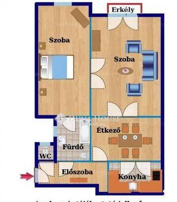 Budapesti albérlet, Újlipótváros, 2 szobás