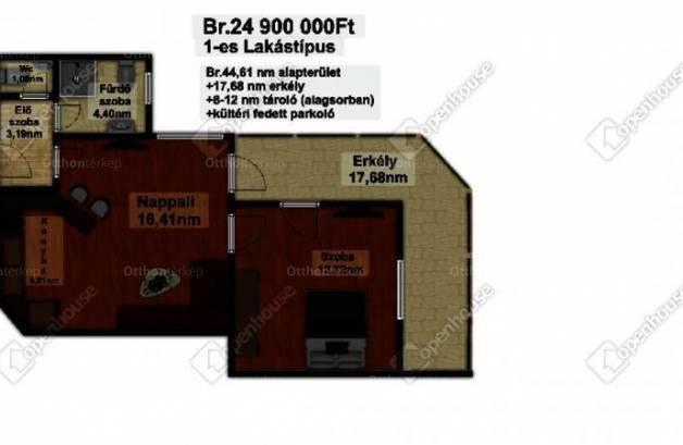 Mezőkövesd új építésű, 2 szobás