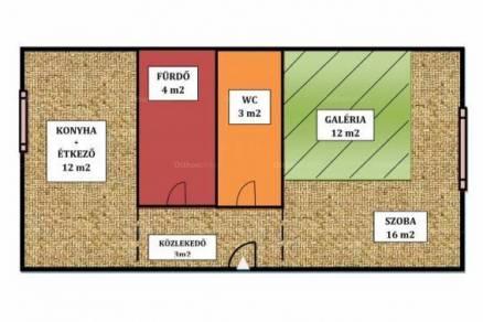 Lakás eladó Budapest, 38 négyzetméteres