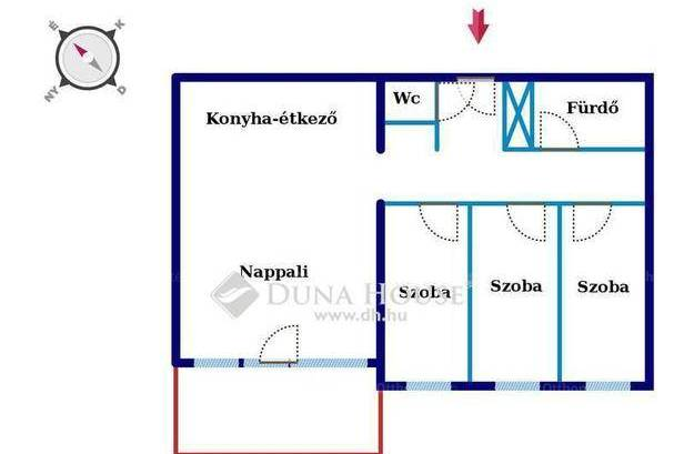 Eladó 1+3 szobás lakás Kozármisleny, új építésű