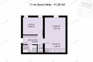 Kecskeméti, 2 szobás, a Zápor utcában, új építésű