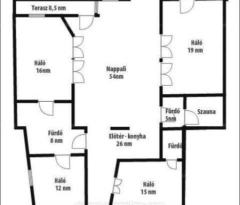 Budapest lakás kiadó, Rózsadombon, 5 szobás