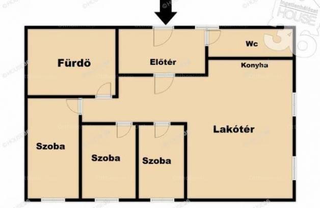 Kiadó lakás Kecskemét a Nefelejcs utcában, 4 szobás
