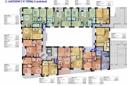 Pécsi új építésű lakás eladó a Bálicsi úton, 40 négyzetméteres