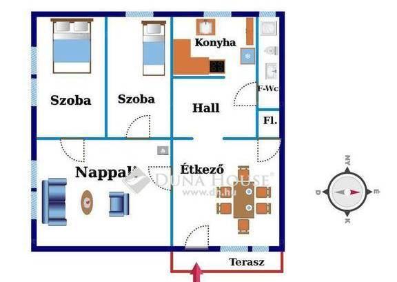 Eladó házrész Békásmegyeren, 1+2 szobás