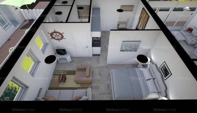 Fonyódi eladó lakás, 1 szobás, 40 négyzetméteres