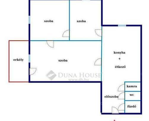 Lakás eladó Debrecen, az István úton, 64 négyzetméteres