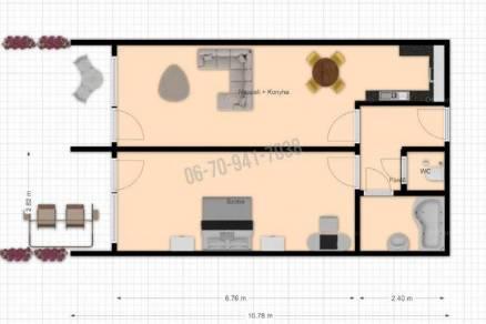 Dunaszeg új építésű, 2 szobás