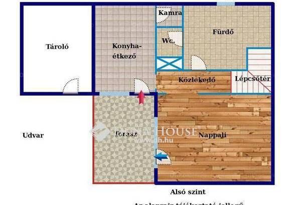 Eladó házrész Esztergom, 3 szobás