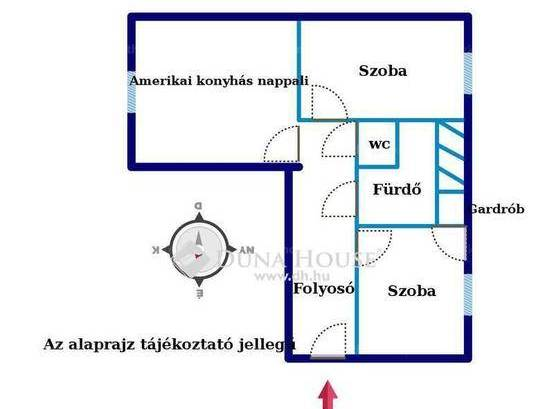 Budapest, lakás eladó, Lipótváros, 1+2 szobás