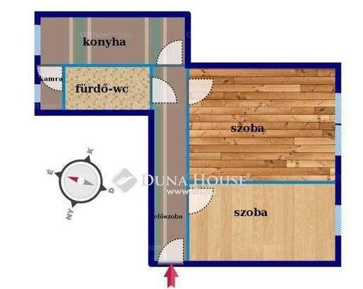 Szigetszentmiklósi eladó lakás, 2 szobás, 52 négyzetméteres