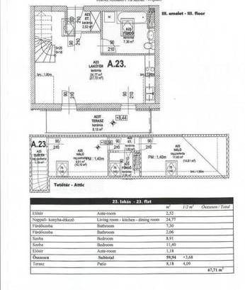 Velence 3 szobás lakás eladó