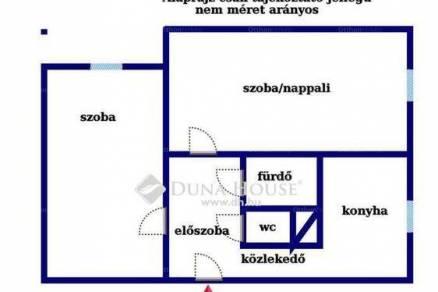 Tatabányai eladó lakás, 2 szobás