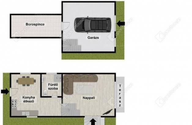 Egerszalók családi ház eladó, 2 szobás