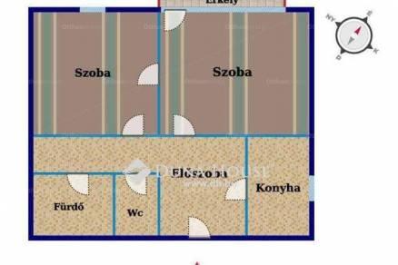 Kecskeméti lakás eladó, 53 négyzetméteres
