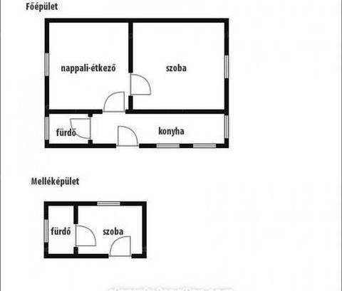 Családi ház eladó Nyáregyháza, 52 négyzetméteres