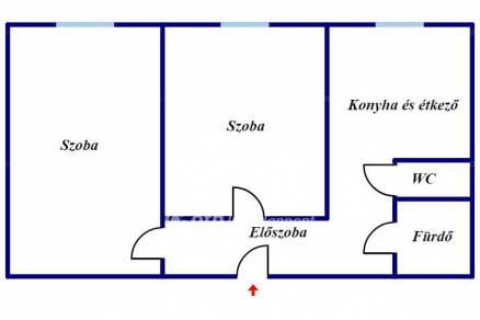 Miskolc 2 szobás lakás eladó a Testvérvárosok útján