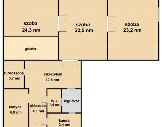 Budapest lakás eladó, 3+1 szobás