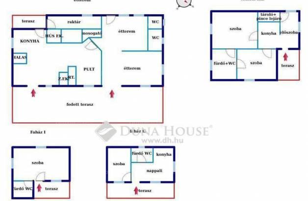 Dömsöd ikerház eladó, Gesztenyesor, 2+3 szobás